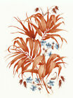 Ceramic Decals Rust Brown Autumn Fall Fern Floral image