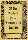 A4 Parchment Poster Winston Churchill Quote Quotations