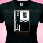 TWO 2 TONE Soul SKA Ladies T-Shirt Mod SCOOTER Madness & Retro Music Fans
