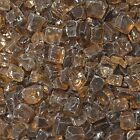 "Copper 1/2"" Fireglass Fire Glass Fire Pit Fireplace Fire Glass Crystals"