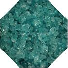 "3/4"" Lite Aqua Fire Glass Fireglass Fire Pit Fireplace Glass Crystals Gas Logs"