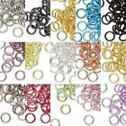 Lot of 100 6mm 18 Gauge Bright Colored Aluminum Open Round Jumprings Jump Rings