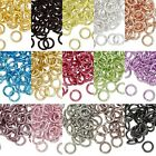 Lot of 100 10mm 14 Gauge Bright Colored Aluminum Open Round Jumprings Jump Rings