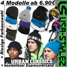URBAN CLASSICS BASIC LONG SLOUCH NORWEGER BOBBLE BEANIE MÜTZE WINTERMÜTZE CAP