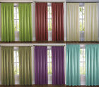"A PAIR OF GRACE 3"" TAPE TOP FULLY LINED SATIN CURTAINS - VARIOUS COLOURS & SIZES"