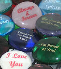 Colored Glass Imprinted Love Stones - Sayings A thru H
