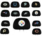 NFL Football Auto Car Seat Head Rest Covers Set of Two- Pick Team