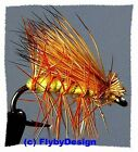Yellow Elk Hair Caddis Dry Fly Fishing Flies - Choice of Hook Size