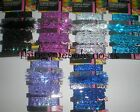 4 x 1M GLITTER/SPARKLE CRAFTING RIBBON - CHOICE OF 6 COLOURS - CRAFTS/SEWING