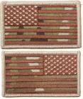 """New Multicam Velcro Backed 2"""" X 3"""" USA Flag Uniform/Cap Patches 2 Styles Avail."""