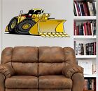 Bulldozer Construction Rig WALL GRAPHIC FAT DECAL Man Cave Mural Kids Room 1022