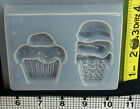 Cupcake popsicle ice cream mold resin jewelry making metal clay summer picnic