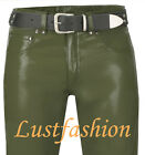 men s leather pants green olive leather trousers NÈW 30 31 32 33 34 36 38 40 42