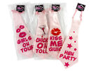 "JUMBO BIG GIANT PINK TIES HEN NIGHT PARTY FUN SASH FUNNY 23"" LONG GAG JOKE NEW"