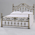 HARMONY CLASSIC ANTIQUE  ELIZABETH 4ft6 Double Brass Metal Bed Frame FREE P&P