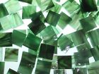 RAINFOREST GREEN handcut stained glass mosaic tiles #220