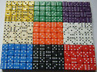 100 7mm Opaque Six Sided Spot Dice Games RPG D6 10 Colours NEW