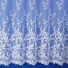 AUTUMN LEAVES FLORAL JACQUARD NET CURTAIN - SOLD BY THE METRE - MULTIPLE DROPS