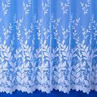 Autumn Leaves Jacquard Net Curtain - Sold By The Metre - Multiple Drops