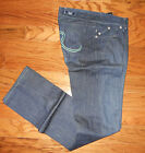 NEW WOMEN'S ROCK & REPUBLIC BERLIN SKINNY JEANS Agonize Blue Sz 28  AWESOME!