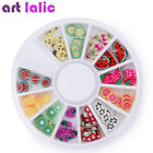 120 Pcs 3D Polymer Clay Fimo Fruit Slices Wheel Nail Art Deco Tips DIY