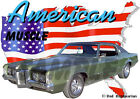 1969 Green Pontiac Grand Prix b Custom Hot Rod USA T-Shirt 69, Muscle Car Tee's