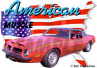 1974 Red Pontiac FireBird Custom Hot Rod USA T-Shirt 74, Muscle Car Tee's