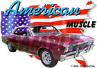 1967 Burgundy Chevy Chevelle Custom Hot Rod USA T-Shirt 67, Muscle Car Tee's