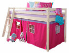 Cabin Bed Mid Sleeper Wooden Pine Bunk Bed with Mattress 5758
