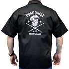 Shot Caller Skull, Billiard Pool Club Work Shirt, Dragonfly