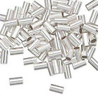 10 OR 100 Sterling Silver Seamless Cut Tube Crimp Beads * 6x3mm *ID 2mm
