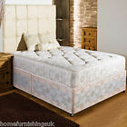 "NEW 3ft6 Large Single FIRM ORTHO DIVAN BED+10""QUILTED DAMASK MATTRESSS+HEADBOARD"