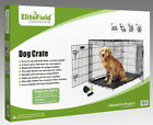 EliteField 2-Door Folding Dog Crate w /RUBBER FEET Cage Kennel 5 Sizes 10 Models