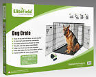 EliteField 2-Door Folding Dog Crate w/RUBBER FEET Cage Kennel 5 Sizes 10 Models
