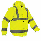 VIZLIFE Safety Yellow Bomber Jacket with VIZLITE
