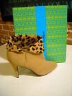 Hot in Hollywood Camel Suede Leopard Cuff Boots