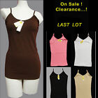 Clearance!  SALE!! Camisole Nice Soft Tank TOP COTTON LONG hip A-shirt : S M