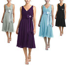 Purple Black Grey Blue Cocktail Evening Bridesmaid Races Dress Size 8 to 26 New