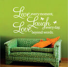 Warm Lettering Quotes Words Mural Decals Decor Home Art  Removable Wall Sticker