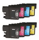 8 x Inkjet Cartridges Compatible With Printer Brother LC985 - 2 Sets Multi Pack
