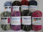 SMC WASH + FILZ IT! x 50g Multicolour Chunky Felting Wool for Knitting 100% Wool