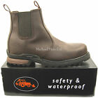 """WORKFORCE""  Waterproof Steel Toe Cap Safety Dealer Boots. Size 6 - 13. WF8D-P"