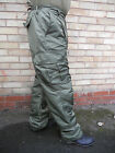 Quilted Lined Winter BDU Combat Trousers Green