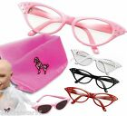 Womens Girls 50s Rock Roll Retro Grease Poodle Scarf Glasses Fancy Dress Costume