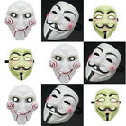 V FOR Vendetta Anonymous + Chainsaw killer Movie Mask Hot Halloween Cosplay Pick