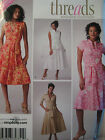 SIMPLICITY #3877 -LADIES STEP BY STEP CUP SPECIFIC MOCK WRAP DRESS PATTERN 6-22u