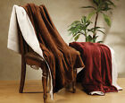 Soft Lightweight Lambs Wool Bed Throw Blankets - 13 Color Choices image