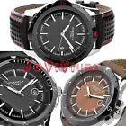 Sale 3 Styles Selectable Men's Casual Leather Day Quartz Analog Wrist Watch
