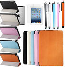 Leather Magnetic Smart Cover Stand Case For Apple/iPad Mini + Protector & Stylus