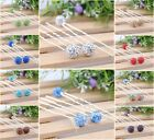 8pcs Fashion Swarovski Clay Crystal Disco Ball Hairpins Hair Accessories FC028